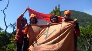 Sang Saka kami kibarkan di Puncak Mandalawangi