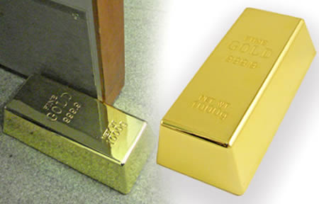 Gold Bullion Doorstop ($16.44)