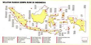 Wilayah Rawan Gempa Bumi di Indonesia