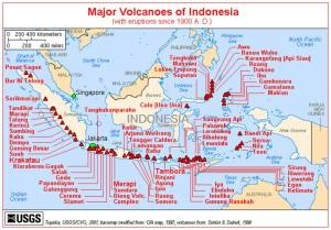 Major Volcanoes of Indonesia