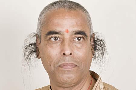 Radhakant Baijpai World's Longest Ear Hair almost than 10 inches long